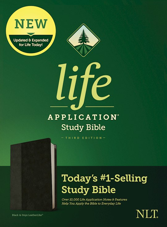 NLT Life Application Study Bible (Third Edition)-Black/Onyx LeatherLike | SHOPtheWORD