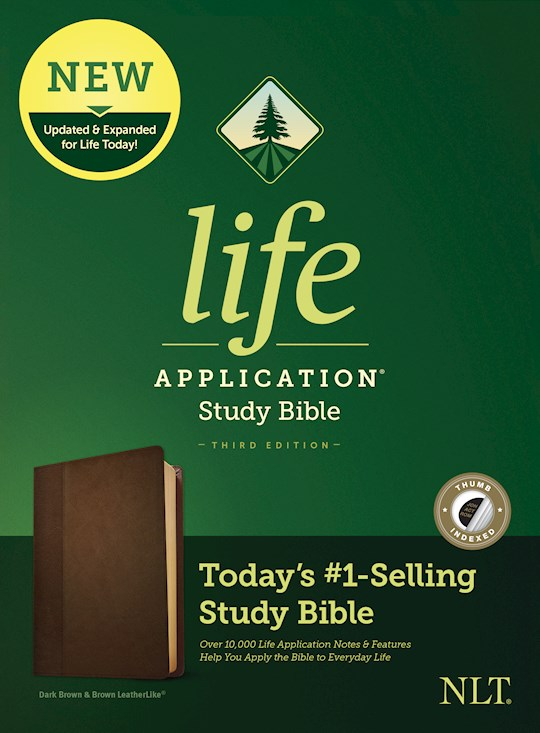 NLT Life Application Study Bible (Third Edition)-Dark Brown/Brown LeatherLike Indexed | SHOPtheWORD