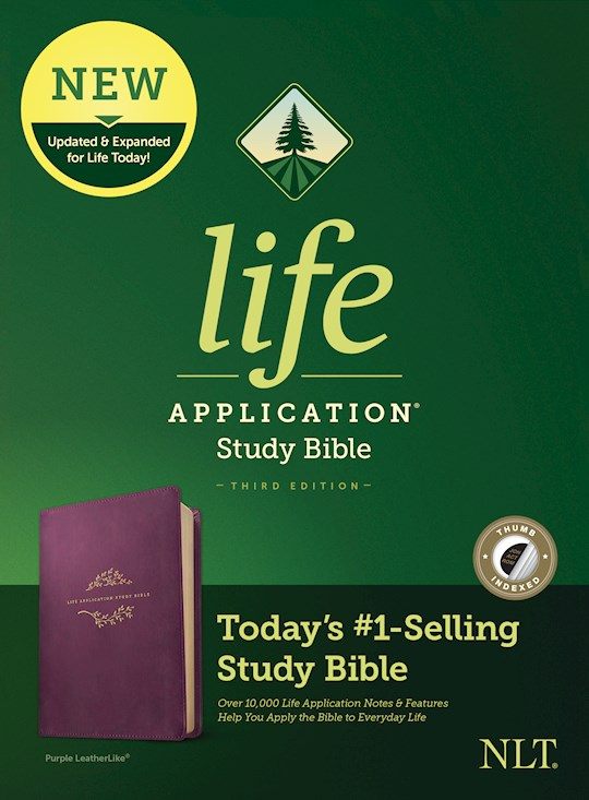 NLT Life Application Study Bible (Third Edition)-Purple LeatherLike Indexed | SHOPtheWORD