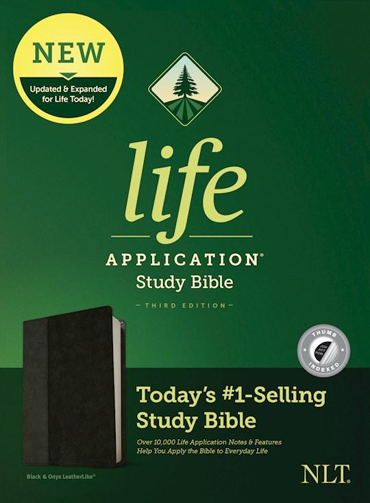 NLT Life Application Study Bible (Third Edition)-Black/Onyx LeatherLike Indexed | SHOPtheWORD