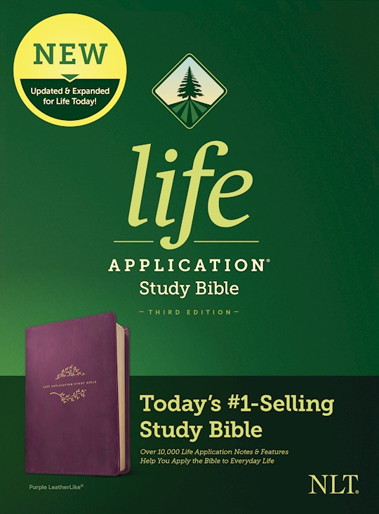 NLT Life Application Study Bible (Third Edition)-Purple LeatherLike | SHOPtheWORD