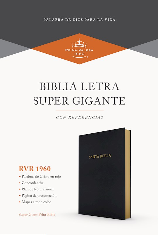 Span-RVR 1960 Super Giant Print Reference Bible (Biblia Letra Super Gigante con Referencias)-Black Imitation Leather | SHOPtheWORD