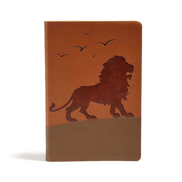 KJV One Big Story Bible-Brown Lion LeatherTouch | SHOPtheWORD