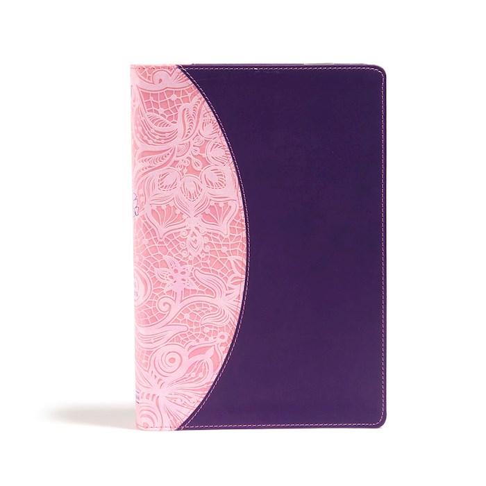 KJV One Big Story Bible-Pink/Purple LeatherTouch | SHOPtheWORD