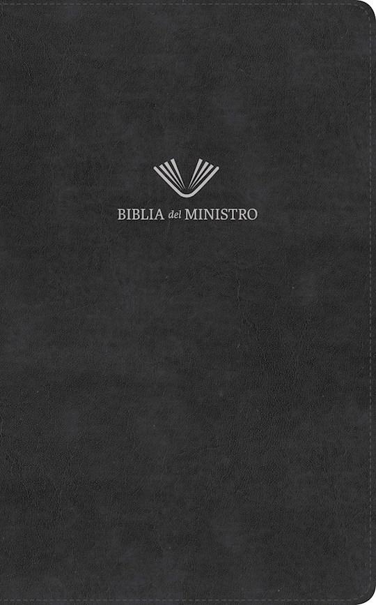 Span-RVR 1960 Minister's Bible (Biblia Del Ministro)-Black Bonded Leather | SHOPtheWORD