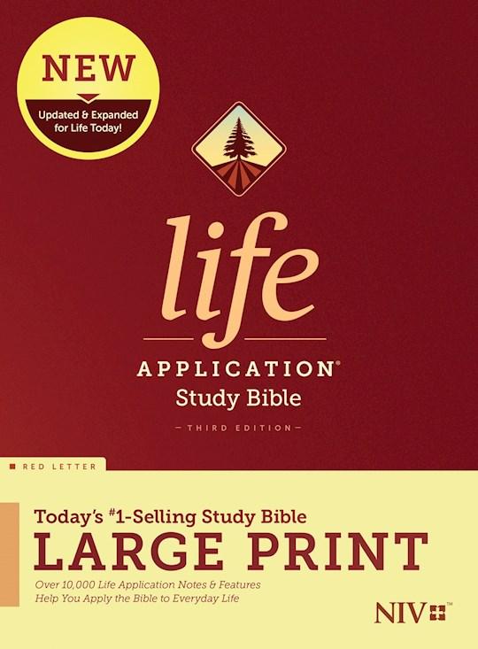 NIV Life Application Study Bible/Large Print (Third Edition) (RL)-Hardcover | SHOPtheWORD