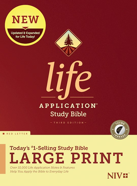 NIV Life Application Study Bible/Large Print (Third Edition) (RL)-Hardcover Indexed | SHOPtheWORD
