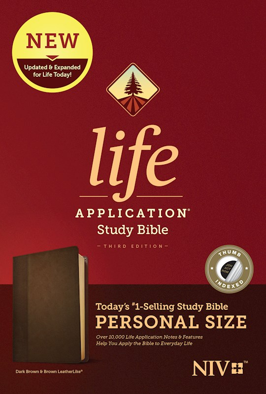 NIV Life Application Study Bible/Personal Size (Third Edition)-Dark Brown/Brown LeatherLike Indexed | SHOPtheWORD