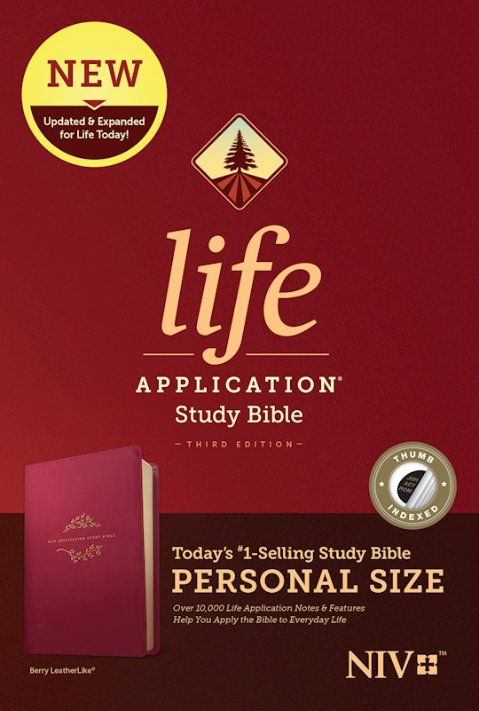 NIV Life Application Study Bible/Personal Size (Third Edition)-Berry LeatherLike Indexed | SHOPtheWORD