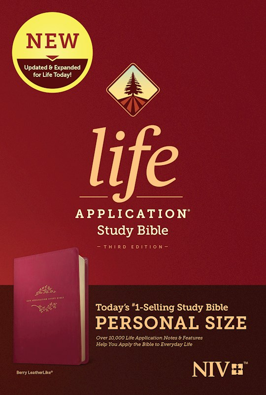 NIV Life Application Study Bible/Personal Size (Third Edition)-Berry LeatherLike | SHOPtheWORD