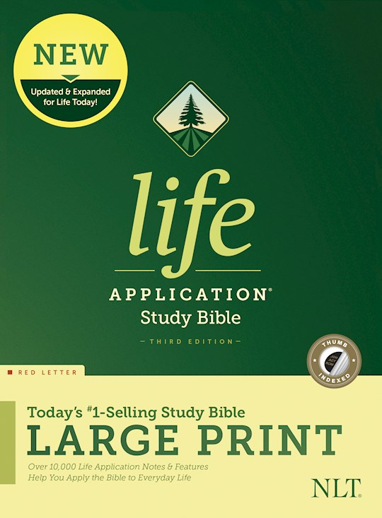 NLT Life Application Study Bible/Large Print (Third Edition) (RL)-Hardcover Indexed | SHOPtheWORD