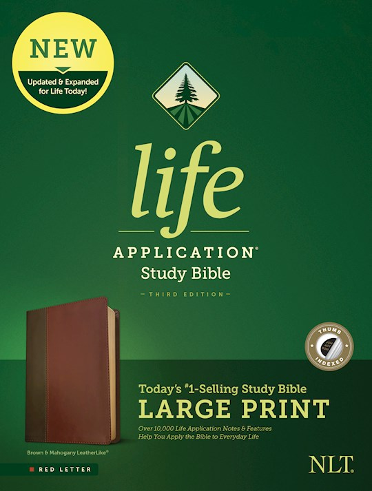 NLT Life Application Study Bible/Large Print (Third Edition)-Red Letter-Brown/Tan LeatherLike Indexed | SHOPtheWORD