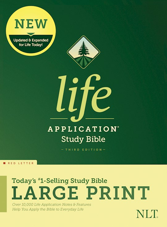 NLT Life Application Study Bible/Large Print (Third Edition) (RL)-Hardcover | SHOPtheWORD