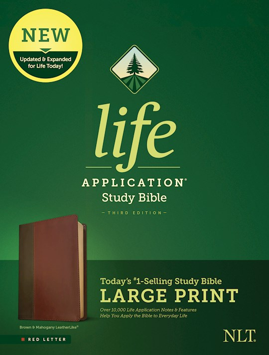 NLT Life Application Study Bible/Large Print (Third Edition)-Brown/Tan LeatherLike | SHOPtheWORD