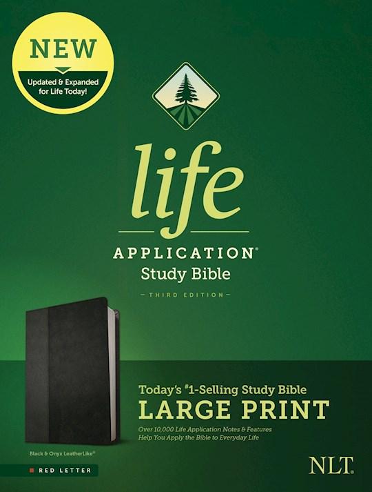 NLT Life Application Study Bible/Large Print (Third Edition) (RL)-Black/Onyx LeatherLike  | SHOPtheWORD