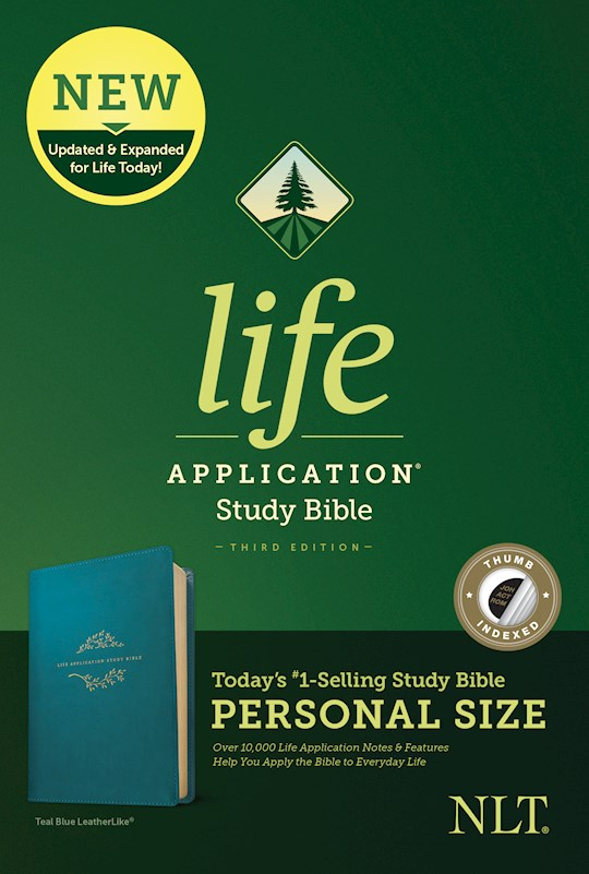 NLT Life Application Study Bible/Personal Size (Third Edition)-Teal Blue LeatherLike Indexed | SHOPtheWORD