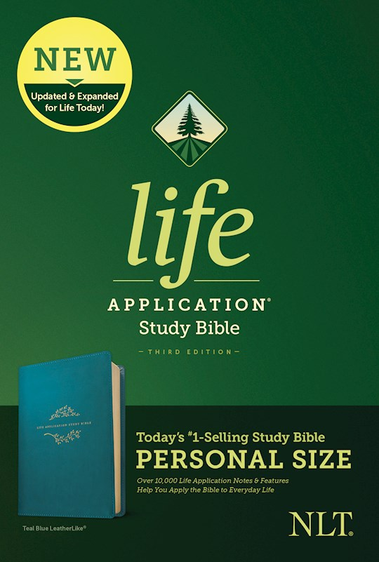 NLT Life Application Study Bible/Personal Size (Third Edition)-Teal Blue LeatherLike | SHOPtheWORD
