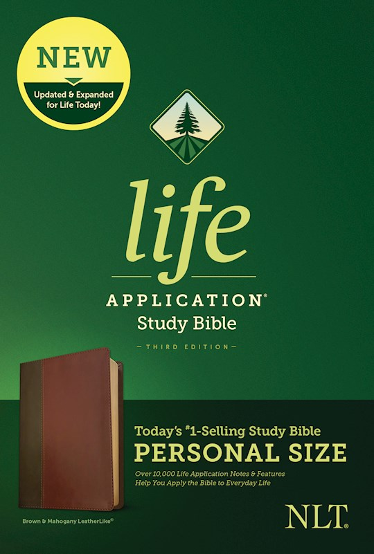 NLT Life Application Study Bible/Personal Size (Third Edition)-Brown/Tan LeatherLike   SHOPtheWORD