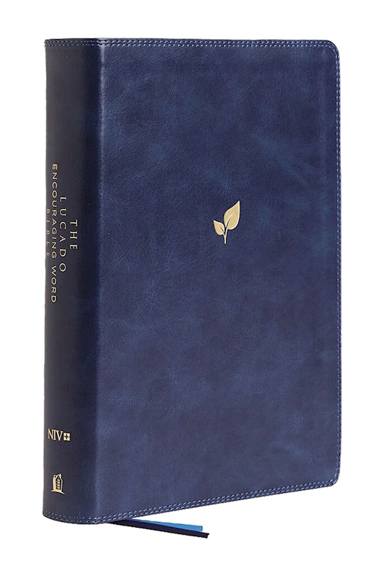 NIV Lucado Encouraging Word Bible (Comfort Print)-Blue Leathersoft | SHOPtheWORD