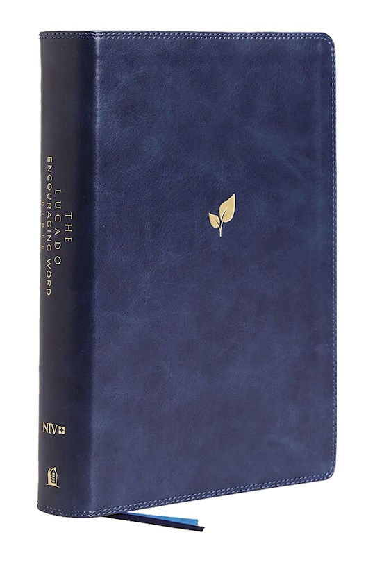 NIV Lucado Encouraging Word Bible (Comfort Print)-Blue Leathersoft Indexed | SHOPtheWORD