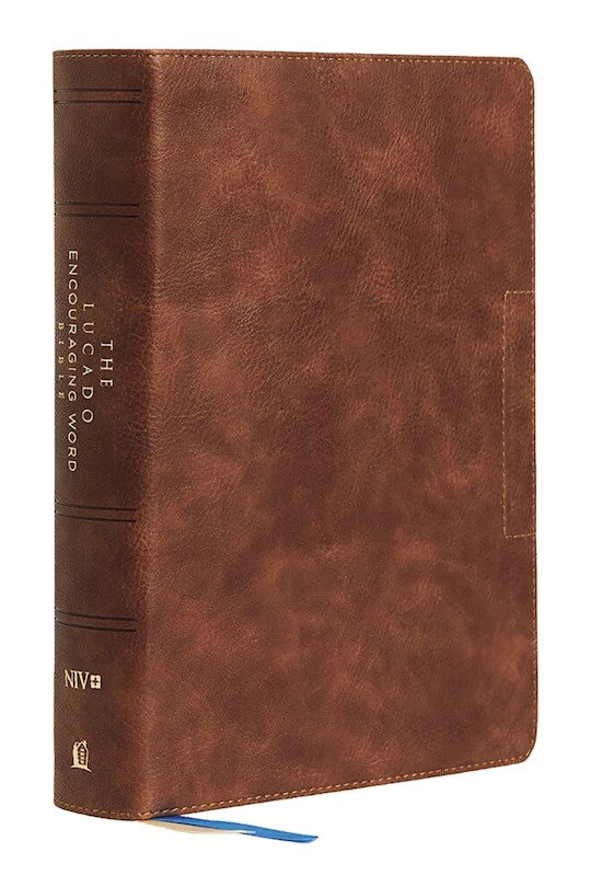 NIV Lucado Encouraging Word Bible (Comfort Print)- Brown Leathersoft Indexed | SHOPtheWORD