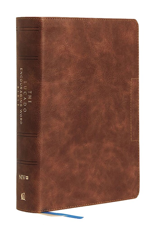 NIV Lucado Encouraging Word Bible (Comfort Print)-Brown Leathersoft | SHOPtheWORD