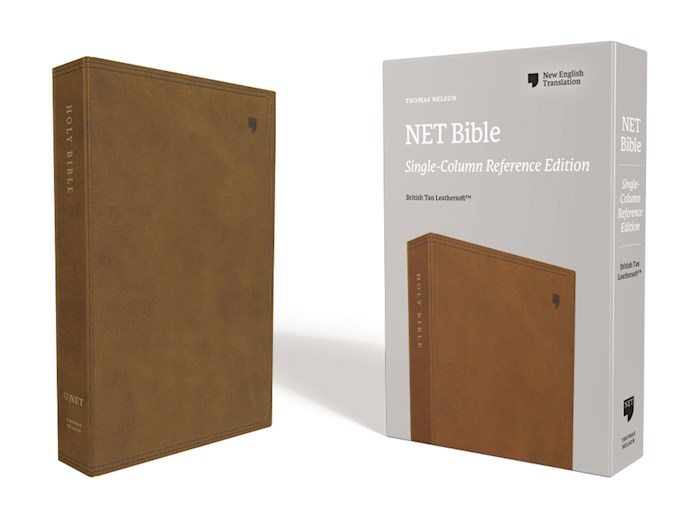 NET Single-Column Reference Bible (Comfort Print)-Brown Leathersoft | SHOPtheWORD