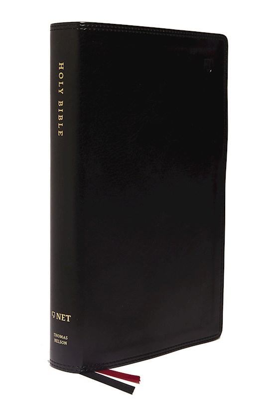 NET Single-Column Reference Bible (Comfort Print)-Black Leathersoft | SHOPtheWORD