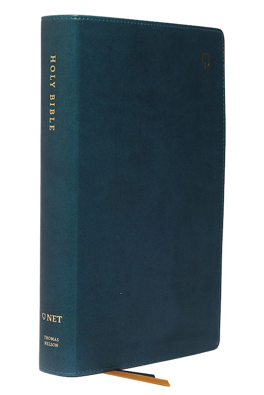 NET Single-Column Reference Bible (Comfort Print)-Teal Leathersoft | SHOPtheWORD