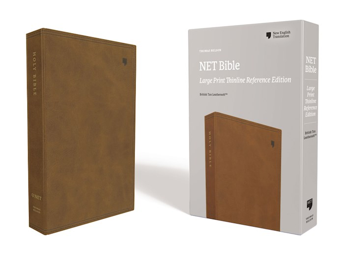 NET Thinline Reference Bible/Large Print (Comfort Print)-Brown Leathersoft | SHOPtheWORD