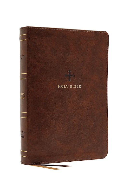 NRSV Catholic Bible/Large Print (Comfort Print)-Brown Leathersoft | SHOPtheWORD