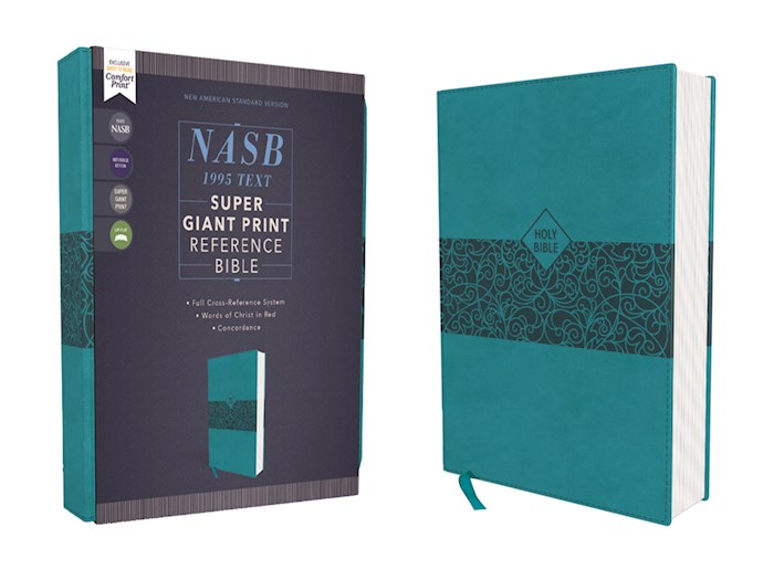 NASB Super Giant Print Reference Bible (Comfort Print)-Teal Leathersoft | SHOPtheWORD