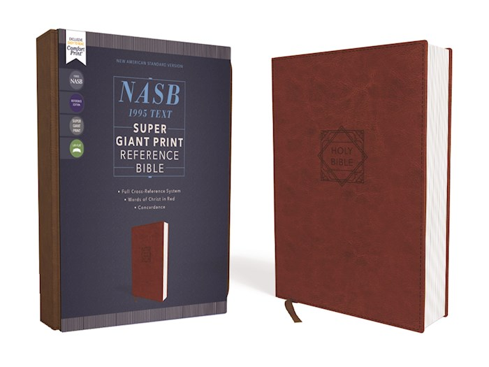 NASB Super Giant Print Reference Bible (Comfort Print)-Brown Leathersoft | SHOPtheWORD
