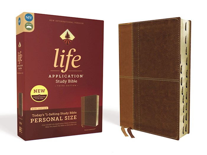 NIV Life Application Study Bible/Personal Size (Third Edition)-Brown Leathersoft Indexed | SHOPtheWORD