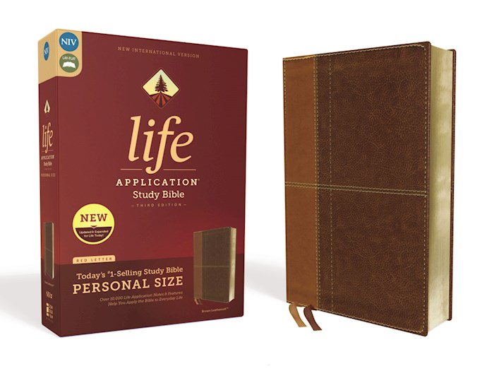 NIV Life Application Study Bible/Personal Size (Third Edition)-Brown Leathersoft | SHOPtheWORD