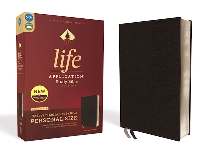 NIV Life Application Study Bible/Personal Size (Third Edition)-Black Bonded Leather | SHOPtheWORD