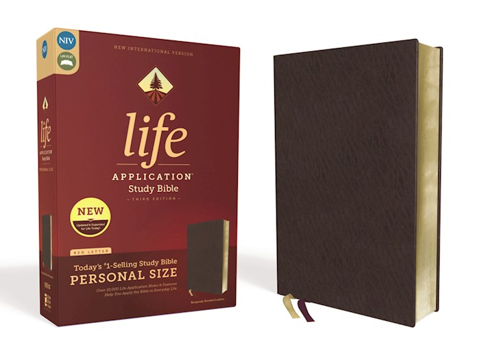 NIV Life Application Study Bible/Personal Size (Third Edition)-Burgundy Bonded Leather | SHOPtheWORD