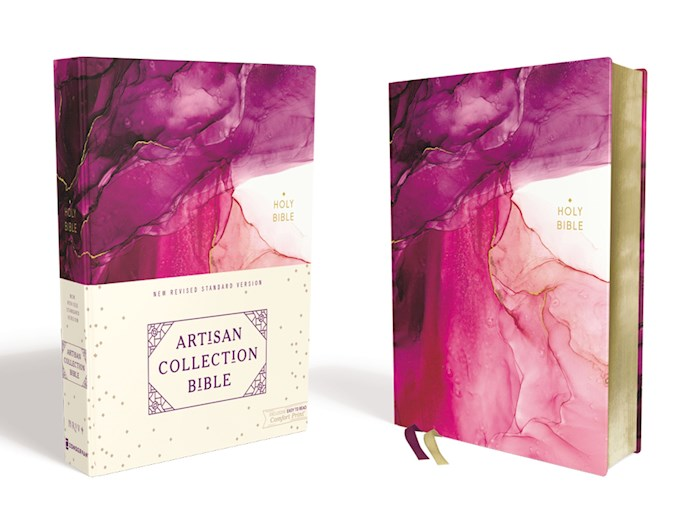 NRSV Artisan Collection Bible (Comfort Print)-Pink Cloth Over Board | SHOPtheWORD