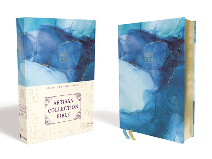 NRSV Artisan Collection Bible (Comfort Print)-Blue Cloth Over Board | SHOPtheWORD