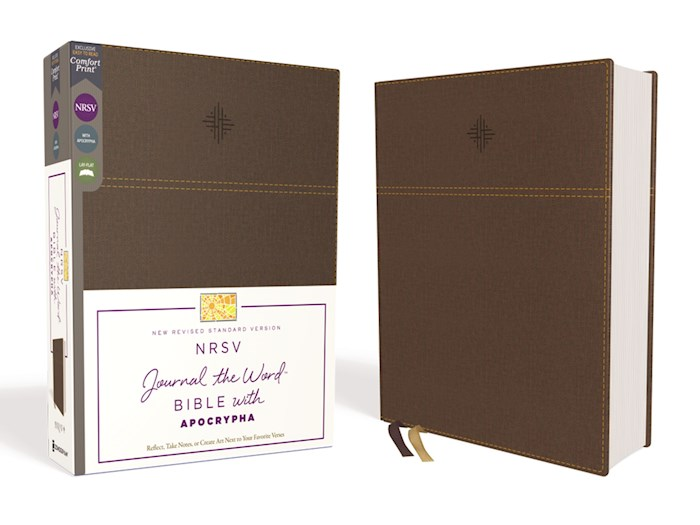 NRSV Journal The Word Bible w/Apocrypha (Comfort Print)-Brown Leathersoft | SHOPtheWORD