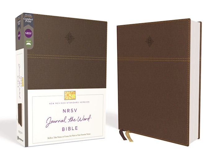NRSV Journal The Word Bible (Comfort Print)-Brown Leathersoft | SHOPtheWORD