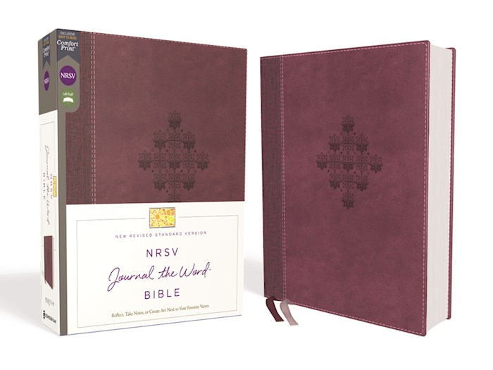 NRSV Journal The Word Bible (Comfort Print)-Burgundy Leathersoft | SHOPtheWORD