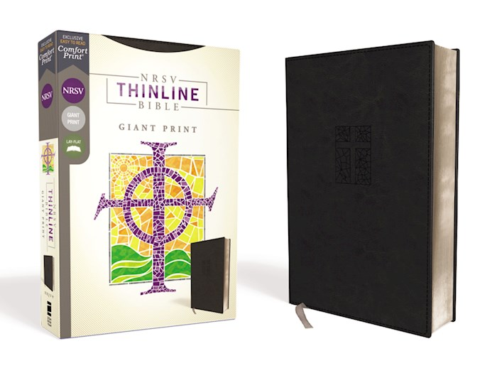 NRSV Thinline Bible/Giant Print (Comfort Print)-Black Leathersoft | SHOPtheWORD