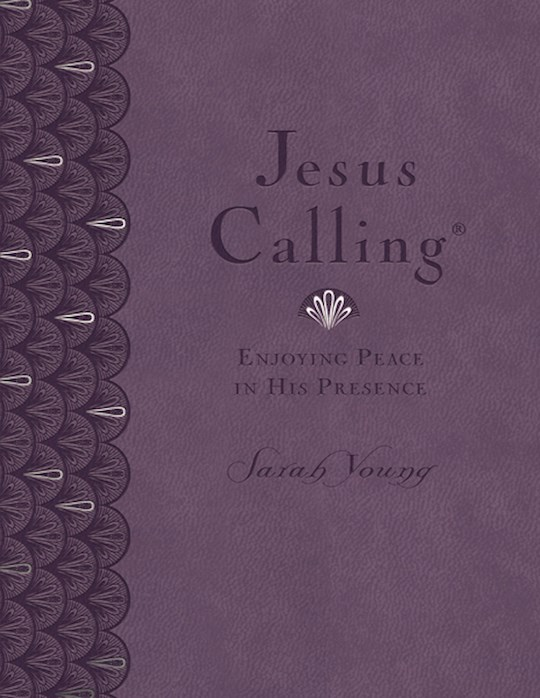 Jesus Calling (Deluxe Edition) Large Print-Lavender Leathersoft (CBA Exclusive) by Sarah Young | SHOPtheWORD