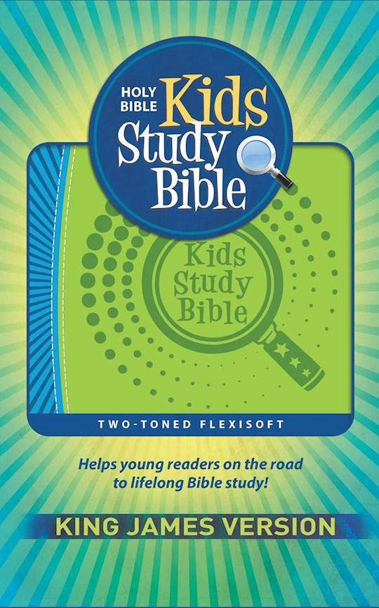 KJV Kids Study Bible-Blue/Green Flexisoft | SHOPtheWORD