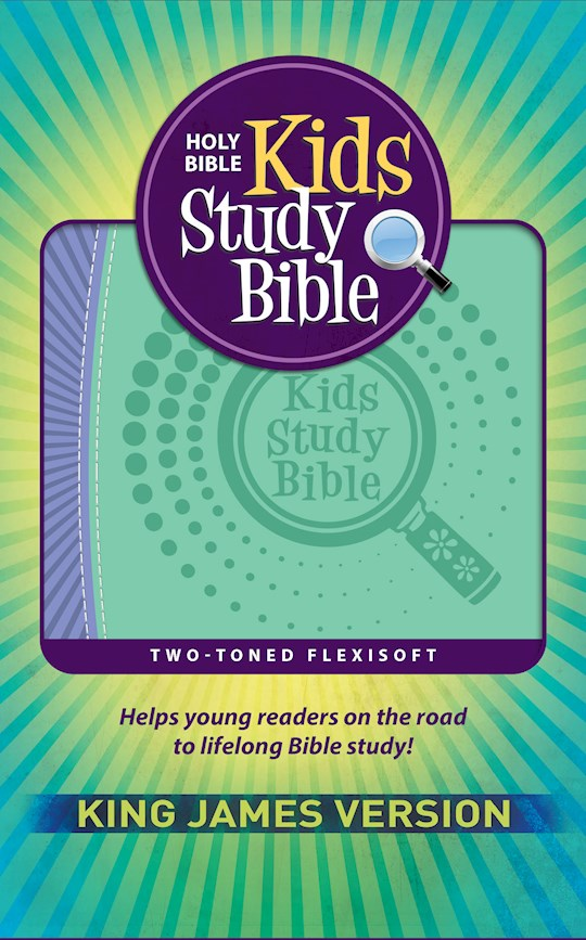 KJV Kids Study Bible-Purple/Green Flexisoft | SHOPtheWORD