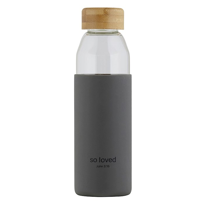 Water Bottle-w/Bamboo Lid-So Loved (18 Oz) | SHOPtheWORD