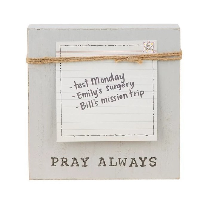 "Frame-Pray Always Block (6"" x 6"") | SHOPtheWORD"