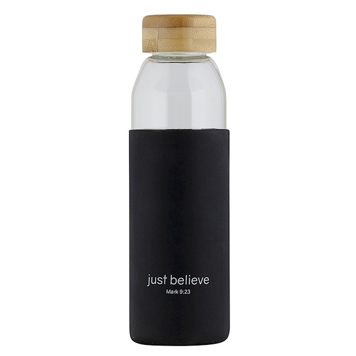 Water Bottle-w/Bamboo Lid-Just Believe (18 Oz) | SHOPtheWORD