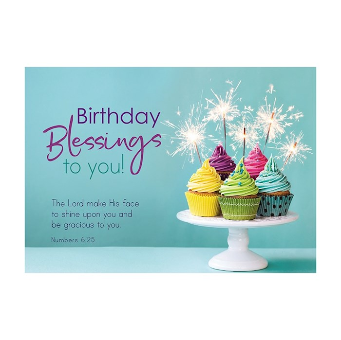 """Postcard-Birthday Blessings To You (6"""" x 4.25"""") (Pack Of 6) 